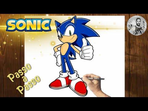 Como Desenhar SONIC Passo a Passo, Fcil e Completo