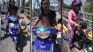 Terciduk! Wanita Diceramahi Petugas saat Kedapatan Buang Popok ke Bawah Jembatan Selopuro Ngawi