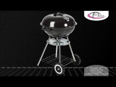 TecTake - Barbacoa Barbecue Grill con Carbón Vegetal Parrilla Fumador