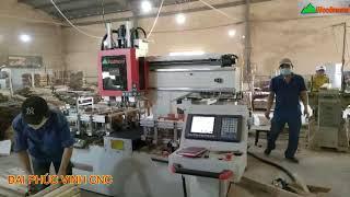 MÁY LÀM MỘNG ÂM CNC 3 Đầu Woodmaster giá tốt - MÁY KHOAN MỘNG ÂM CNC TRUNG QUỐC