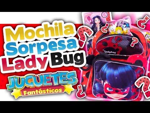 PRODIGIOSA LADYBUG Mochila Sorpresa de Ladybug con Juguetes Sorpresa! - Juguetes Fantásticos