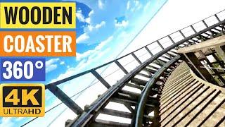 [4K 360 VR Video] Wooden Coaster Simulator for Google Cardboard 360° 3D VR split screen SBS