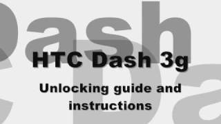How to Unlock T-Mobile HTC Dash 3G, free SIM card GSM Network by code