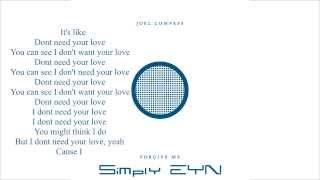 Joel Compass- Forgive Me Lyrics