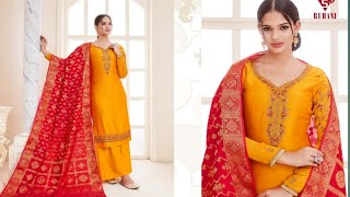 mqdefault - Siddhi Sagar Suits l Banarasi Silk Dupatta Suits