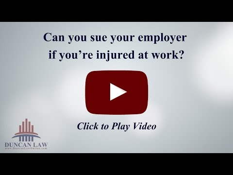 Can You Sue Your Employer if You're Injured at Work?