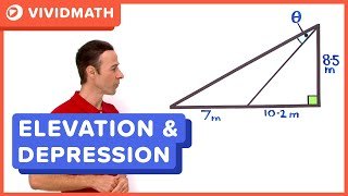 Angles Of Elevation And Depression - VividMaths.com