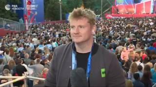 Фанаты смотрят матч Аргентина - Хорватия