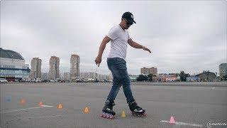 Трюки на роликах: крис-крос спиной и мабрук