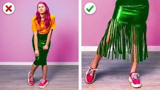 COOL GIRLY FASHION HACKS || 8 Brilliant DIY Clothing Ideas to Upgrade Your Wardrobe by Crafty Panda
