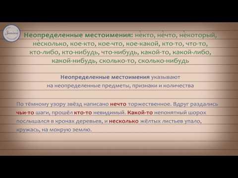 Местоимение как часть речи. Разряды местоимений