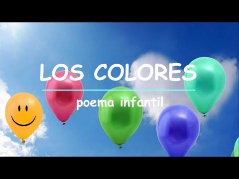 LOS COLORES - poemas infantiles habladas e animadas para APRENDER colores en ESPAÑOL