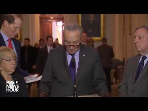 WATCH: Senate Democratic leaders hold news briefing after weekly policy meeting