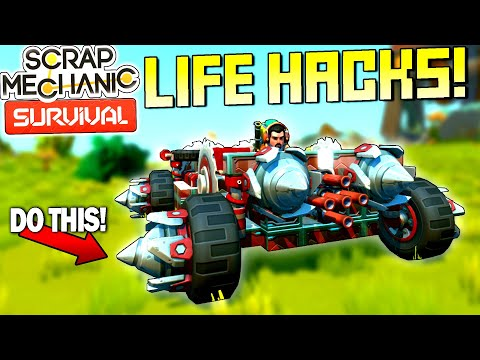 Scrap Mechanic Survival Life Hacks and Tips Everyone Should Know! - SM Survival Mode [SMS 29]
