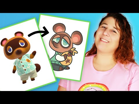 """Animator Draws Tom Nook From """"Animal Crossing"""" In 3 Different Mediums"""