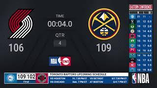 Trail Blazers @ Nuggets | NBA on TNT Live Scoreboard
