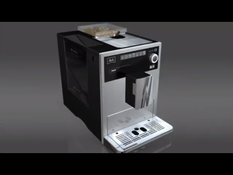 Melitta E970-103 Caffeo CI One-Touch Fully Automatic Coffee Maker Coffee Memory and Milk System