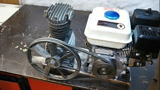 Making mobile gas powered air compressor