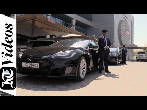 An Exclusive Look Inside Dubai's Latest Tesla Taxis