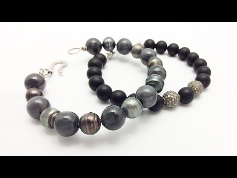 How to Make Beaded Bracelets with Sterling Silver Wire Easy – Jewelry Making and Design Ideas
