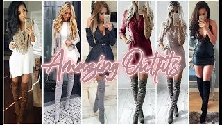 BEAUTIFUL SUPER FASHION OUTFITS WITH LONG BOOTS ♥ HERMOSOS OUTFITS SÚPER FASHION CON BOTAS LARGAS