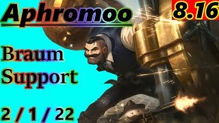 Gambar cover Aphromoo as Braum Support - S8 Patch 8.16 - NA Master - Full Gameplay