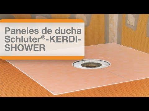 Cómo instalar los paneles de ducha Schluter®-KERDI-SHOWER