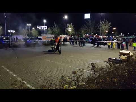 Feuerwerk vorschießen OBI Markt Norderstedt