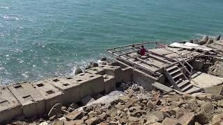 Сочи Лазаревское гибель пляжа Фламинго из за десятка бунов перед Аше 4К