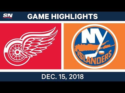 NHL Highlights | Red Wings vs. Islanders - Dec 15, 2018