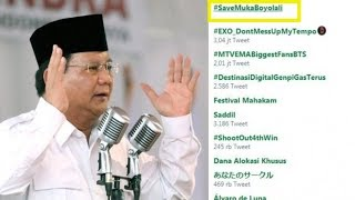 Viral Video Prabowo Pidato Sebut 'Tampang Boyolali', Tagar #SaveMukaBoyolali Trending di Twitter