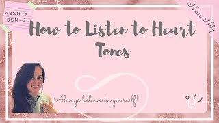 HOW TO LISTEN TO HEART TONES! - BRUITS & APICAL PULSE