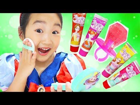 보람이의 어린이 사탕 화장품 랜덤 뽑기 놀이 Candy kid makeup challenge