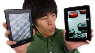 KindlePaperwhiteとKindleFireHDの違いって何?キンドルまとめ