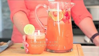 Strawberry and Lime Moscato Punch // Real Housemoms