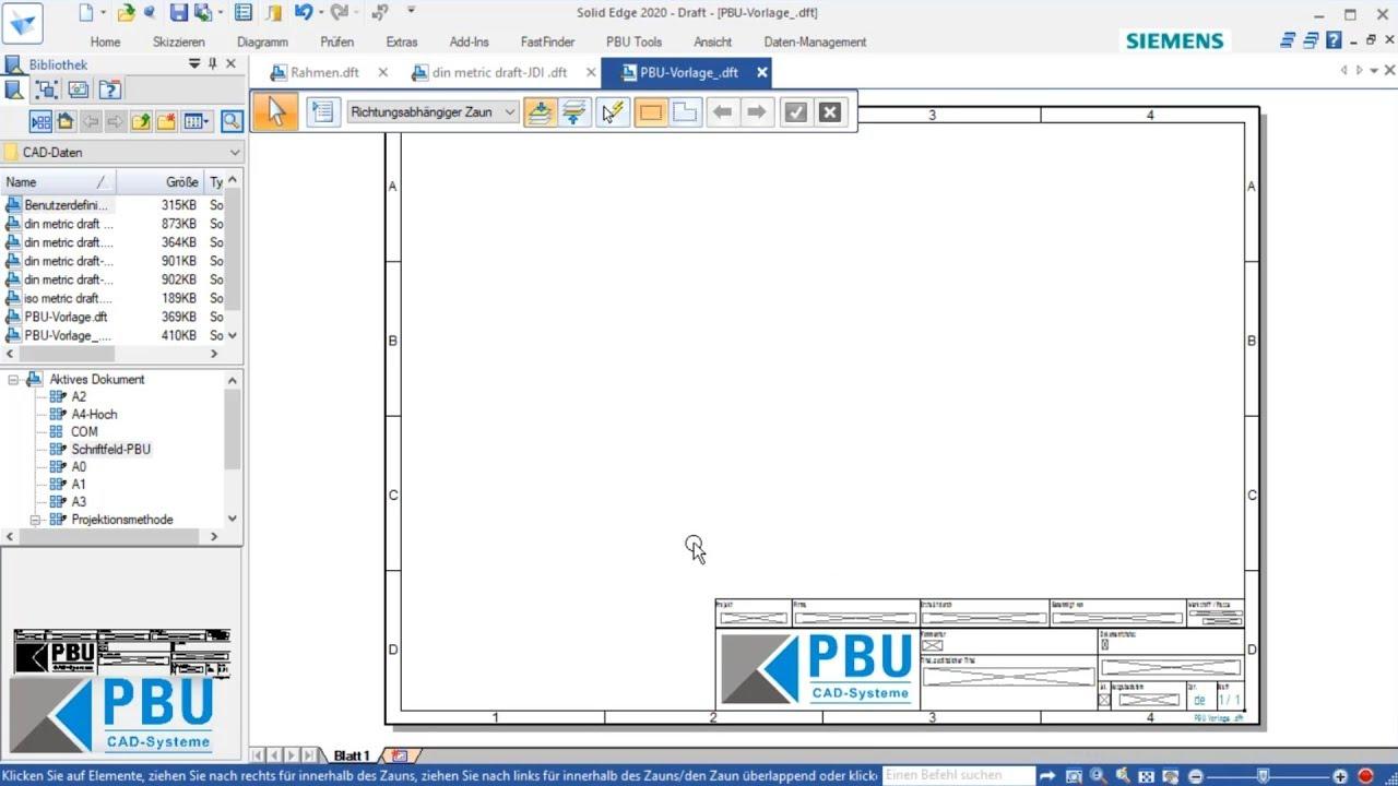 Vorschaubild: Solid Edge Tutorial: So erstellen Sie individuelle Zeichnungsvorlagen