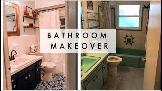 DIY BATHROOM MAKEOVER ON A BUDGET 🛀