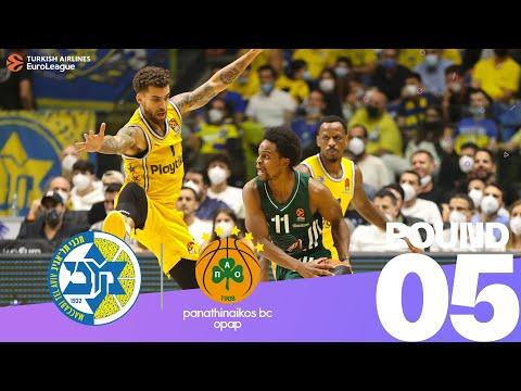 RS Round 5 Highlights: Maccabi 77-73 Panathinaikos