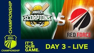 Jamaica v T&T Red Force - Day 3 | West Indies Championship | Saturday 12th January 2019