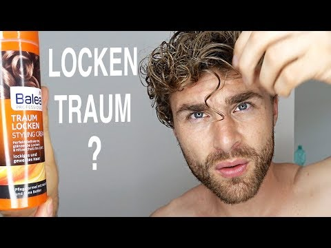 LOCKEN MACHEN HAARSTYLING PRODUKT TEST + REVIEW ● Balea LOCKEN TRAUM Styling Cream | DANIEL KORTE
