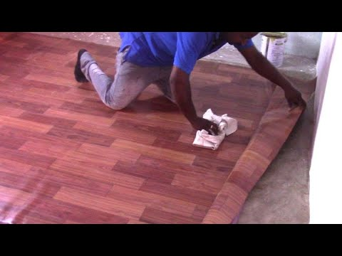 How to install PVC vinyl sheet? flooring