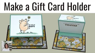 🔴How To Make A Gift Card Holder With A Fancy Fold