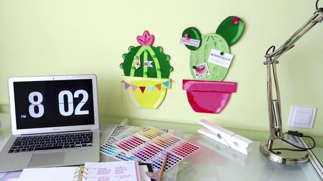 BACK TO SCHOOL - CACTUS CORK BOARD