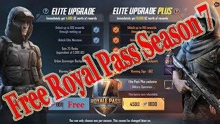 pubg mobile season 7 get free royal pass and 3000 uc