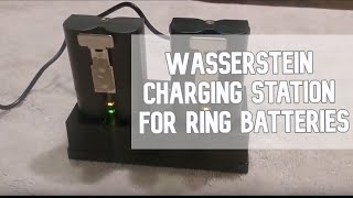 How to use Wasserstein Charging Station for Ring batteries video #wasserstein #ring #doorbell