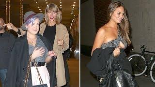 Taylor Swift, Kelly Osbourne And Chrissy Teigen Enjoy A Wild Night Out In NYC [2014]