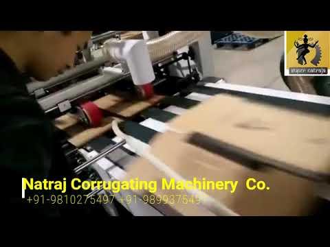Semi Automatic Folder Gluer Machine with Bottom Lock
