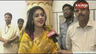 Ollywood actress Barsha Priyadarshini visits various Durga Puja mandaps in Cuttack || Kalinga TV