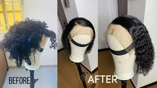 HOW TO TREAT YOUR OLD CURLY WIG! FROM ROUGH TO NEW