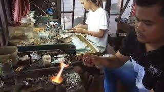 Kerajinan Utas Perak Berlian Kampung Alfi Jewelry Dijual hingga Hongkong